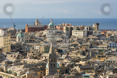 Genova, old town stock photo, The characteristic old houses in Genoa, Italy by ANTONIO SCARPI