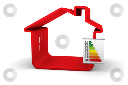 Building Energy Performance G Classification stock photo, House with an G energy performance classification by Nuno Andre