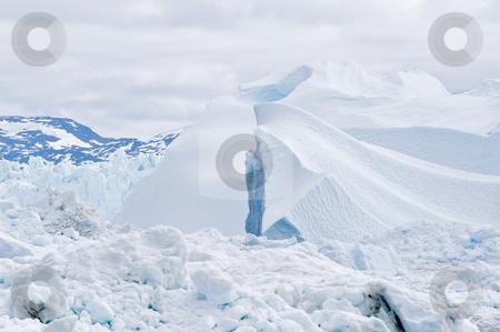 Iceberg #7 stock photo, Beautiful icebergs and curves. Almost look like sand dunes.