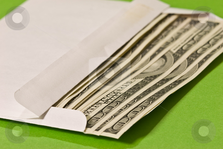 Money stock photo, Money series: some hundred dollars in envelope by Gennady Kravetsky