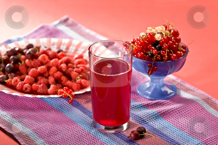 Compote stock photo, Fruit drink on the glass with berry by Gennady Kravetsky