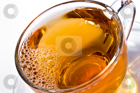 Tea stock photo, Drink series: cup of tea, hot beverage by Gennady Kravetsky