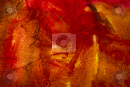 Abstract background stock photo, Crumpled paper on the red and yellow colors by Gennady Kravetsky