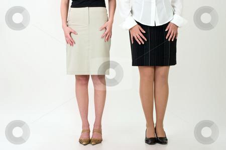 Girl's legs stock photo, Peolpe series: pretty legs of two girls by Gennady Kravetsky