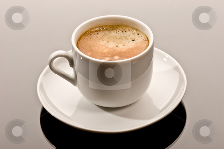Lunch stock photo, Drink series: one cup of coffee, lunch by Gennady Kravetsky