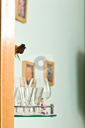 Kitchenware stock photo, House series: glassy bocal on the kitchen by Gennady Kravetsky