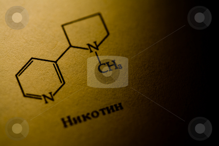 Nicotine stock photo, Chemisrty series:  nicotine formula in organic chemistry by Gennady Kravetsky
