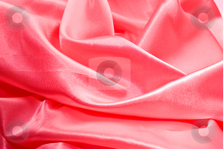 Silk, textile background stock photo, Textile folded background, rose colored silk by Gennady Kravetsky