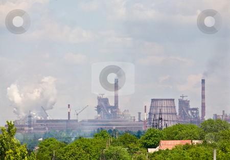 Metal manufacture stock photo, Industrial series: view on the metal manufacture by Gennady Kravetsky
