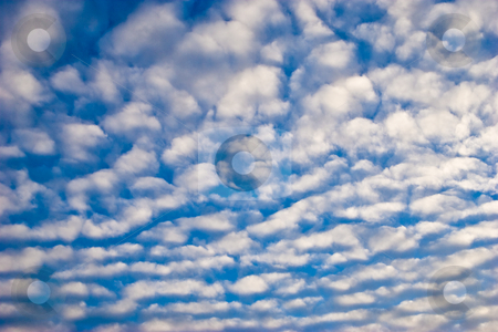 Sky stock photo, Nature series: blue sky with light cloud by Gennady Kravetsky