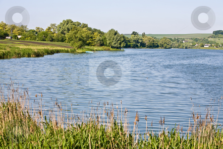 Lake stock photo, View series: summer rural landscape with lake by Gennady Kravetsky