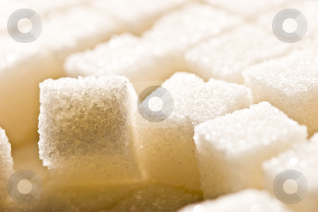 Sugar  stock photo, Sweet  theme: background of sugar cube by Gennady Kravetsky