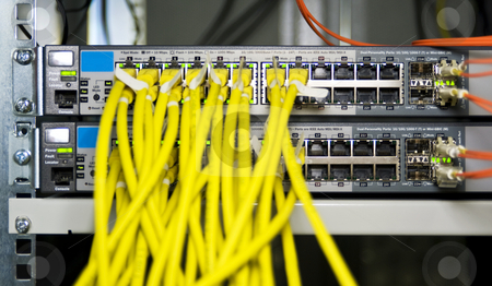 Firewall appliance stock photo, Server configuration connecting webservers to the internet by Corepics VOF