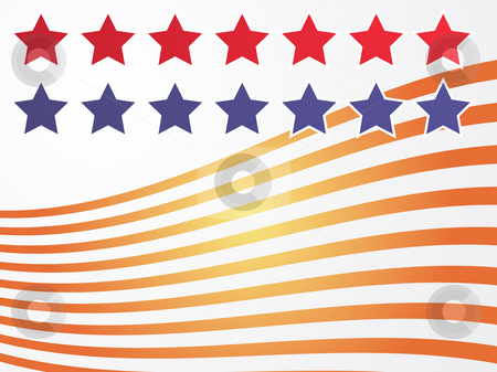 Stars and stripes illustration stock photo, Stars and stripes illustration USA flag abstract representation by Kheng Guan Toh