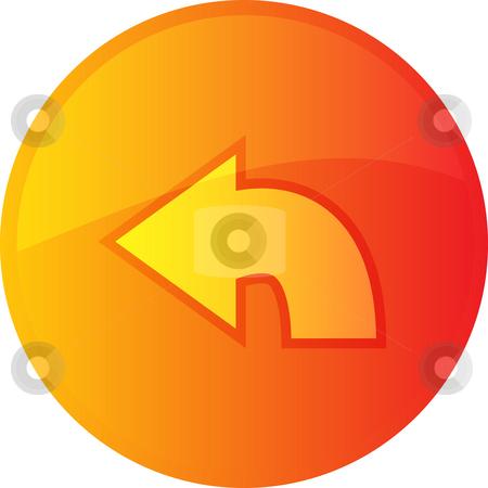 Return navigation icon stock photo, Return navigation icon glossy button, round shape by Kheng Guan Toh