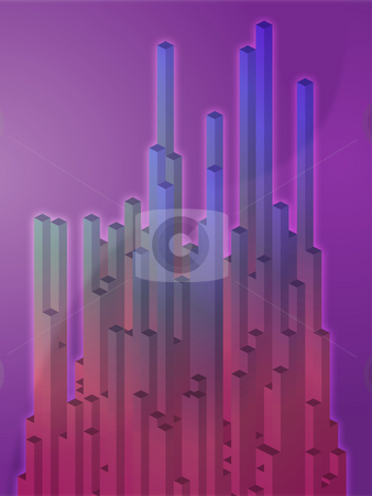 Abstract geometric shapes stock photo, Abstract illustration wallpaper of 3d geometric shapes by Kheng Guan Toh