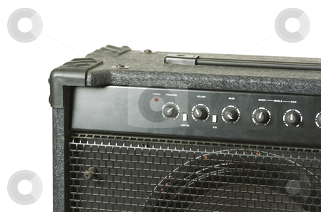 Bass amp  stock photo, Bass amplifier close-up by Andreas Brenner