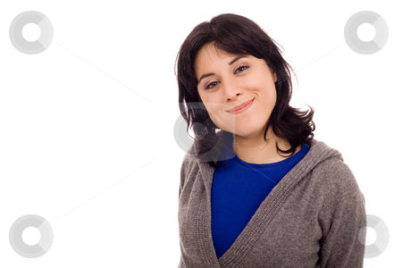 Woman  stock photo, Happy young woan portrait by Marc Torrell