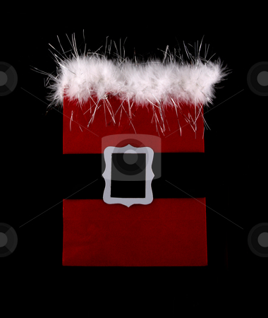 Santa suit stock photo, Santa suit homemade card, present, or shopping bag by Stacy Barnett