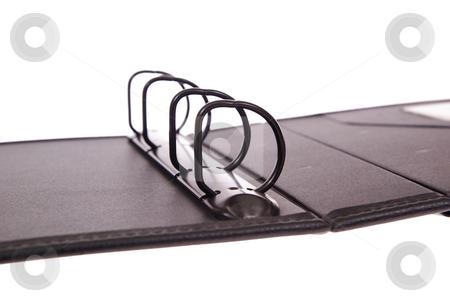 binder stock photo, Black open binder on white background by Jolanta Dabrowska