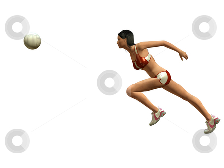WOMAN PLAYING VOLLEYBALL stock photo, Woman wants to catch volleyball by Patrik Ruzic