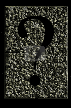 Question time stock photo, Question mark symbol as labyrinth, with shadows... by Reinhart Eo