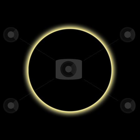 Corona Circle stock photo, Corona Ring - A star stands precisely behind a moon by Reinhart Eo