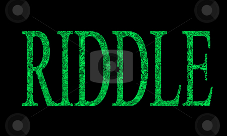 Riddle with maze font stock photo, Letters with