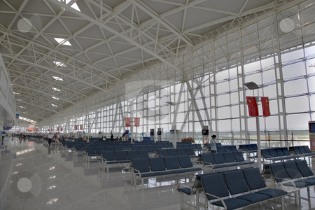 Jinan Regional Airport Shandong Province China stock photo, Regional Airport Jinan Provincial Capital Shandong Province China.  Many large cities in China have new airports.  This is one of them. by William Perry