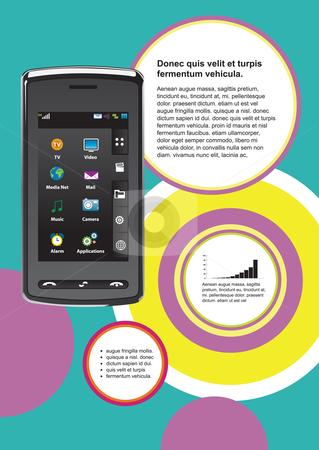technology mobile background stock vector clipart,  by Aurelio Scetta