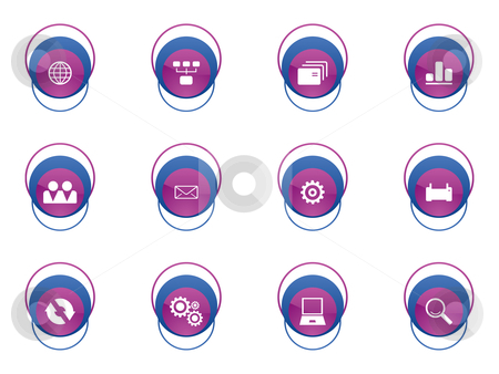 Business button icon stock vector clipart,  by Aurelio Scetta