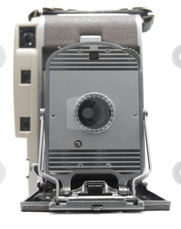 Antique Camera stock photo, Older Antique Camera on a white background by John Teeter