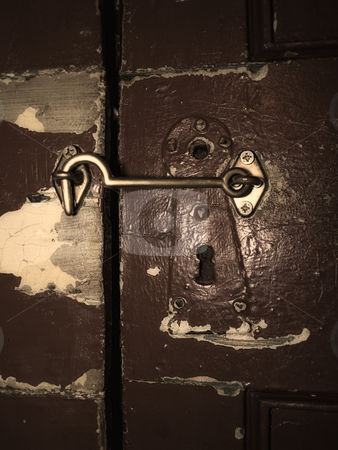 Locked door stock photo, Old lock and locked  door may be keep a some secret behind it. by Sinisa Botas