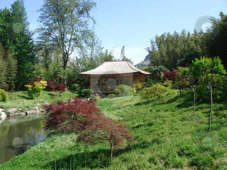 Zen garden stock photo, Beautiful zen garden - harmony, relaxation and peace concept by Stelian Ion