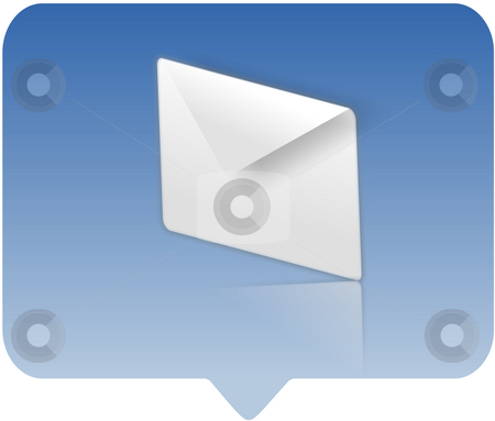 Email symbol icon stock photo, Email symbol icon - computer generated illustration by Stelian Ion