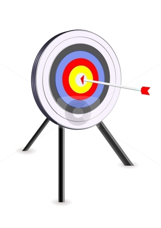 Bullseye icon stock photo, Bullseye icon - success concept by Stelian Ion