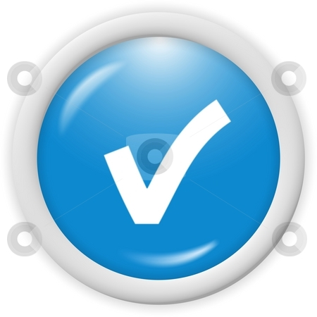 Icon stock photo, 3d blue icon symbol - web design graphic by Stelian Ion