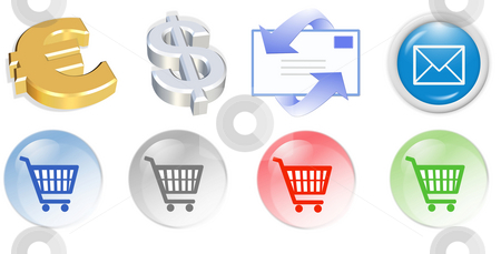 3d business  icon stock photo, 3d business  icon set - web design illustration by Stelian Ion