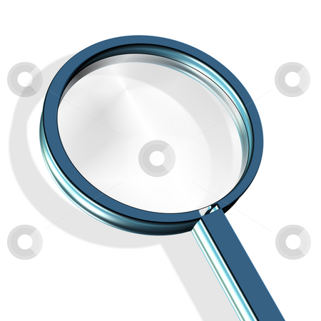 Magnifying glass stock photo, Magnifying glass - investigate, research concept by Stelian Ion