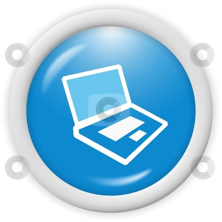 Computer icon stock photo, 3d computer icon - computer generated clip-art by Stelian Ion
