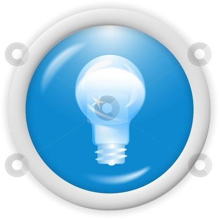 3d blue icon  stock photo, 3d blue icon symbol - bulb, ideas concept - web design by Stelian Ion