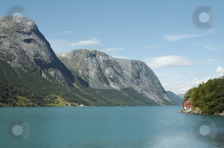 Norwegian fjord stock photo, Beautiful  Norwegian landscape - nord europe by Stelian Ion