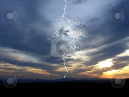 Storm stock photo, Storm  - dramatic clouds prior to a storm - wallpaper by Stelian Ion