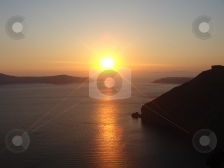 Sunrise  stock photo, Beautiful sunrise from greece islands - europe travel by Stelian Ion