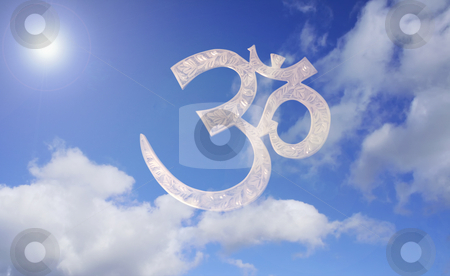 Aum icon stock photo, 3d aum symbol - sanscrit sacred symbol by Stelian Ion