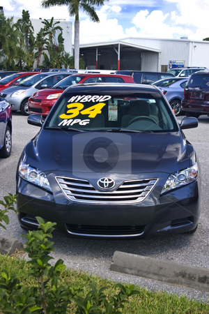 2009 Hybrid Camry stock photo, New Hybrid Camry on Toyota dealer's lot. by Steve Carroll