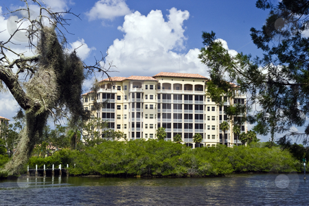 Florida Luxury Condos stock photo, Luxury waterfront Condos in Sarasota, Florida. by Steve Carroll