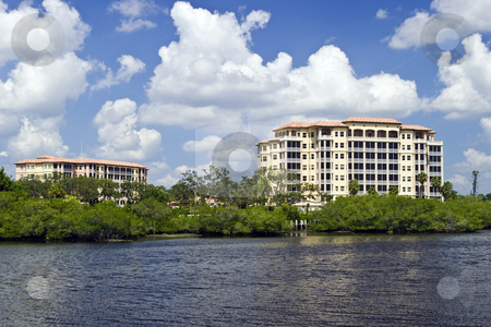 Florida Luxury Condos stock photo, Luxury waterfront Condos in Sarasota, Florida. by Steve Carroll