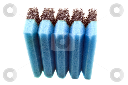Pot Scrubber stock photo, Pot scrubber isolated on white background by Steve Carroll