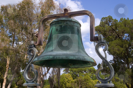 Old Church Bell stock photo, Brass/bronze bell from an old country church by Steve Carroll